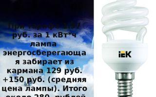 Энергосберегающие лампы. мифы и реальность