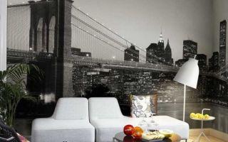 Черно-белые фотообои в дизайне комнат