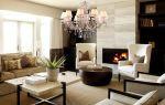 Люстра в интерьере гостиной: современные модели