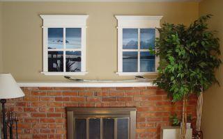 Как сделать фальш окно своими руками?