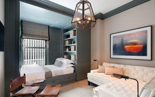 Интерьер и дизайн гостиной совмещенной со спальней: современные идеи