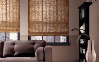 Бамбуковые рулонные шторы в интерьере: преимущества и недостатки