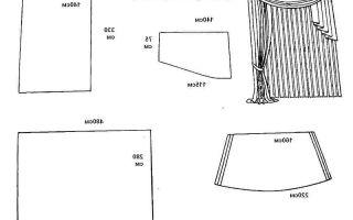 Выкройки штор для кухни: простой секрет