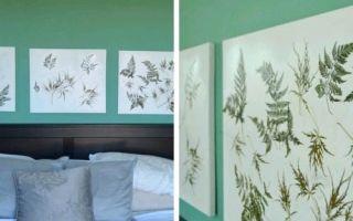 Картины из сухих листьев для вашего интерьера
