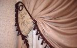 Подвязки для штор своими руками: создаем оригинальные аксессуары