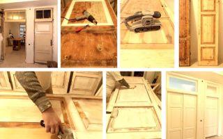 Проведение реставрации дверей своими руками