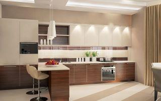 Коричневые кухни