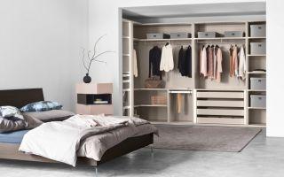 Дизайн спальни с гардеробной комнатой: выбираем вид гардеробного шкафа