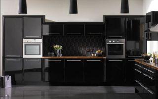 Кухни черного цвета