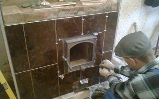 Облицовка печи керамической плиткой: делаем своими руками