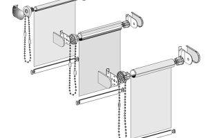 Как устроены механизмы для римской и рулонной шторы