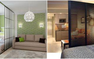 Дизайн спальни-гостиной с перегородкой: варианты, советы