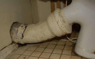 Как устранить протечку гофрированной трубы унитаза?