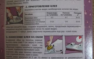 Обойный клей: инструкция по использованию в домашних условиях