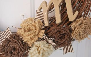 Цветы из мешковины: мастер-класс по созданию красивого элемента декора