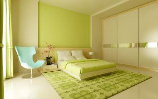 Обои зеленого и салатового цвета для спальни