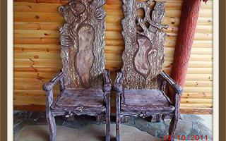 Оформление стульев под старину своими руками