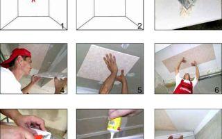 Плитка потолочная из пенополистирола без швов: фото инструкция монтажа
