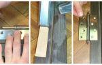 Процесс установки петель на двери