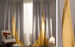 Комбинированные шторы своими руками: грамотное сочетание цветов и тканей