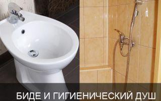 Гигиенический душ или биде?