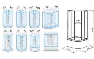 Размеры душевых кабин – варианты для выбора