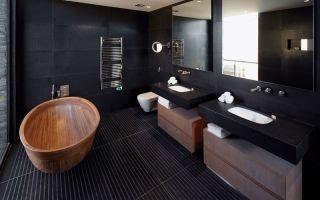 Темные цвета в дизайне интерьера ванной комнаты