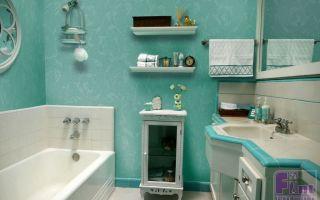 Применение стеклообоев в ванной комнате, практичный интерьер
