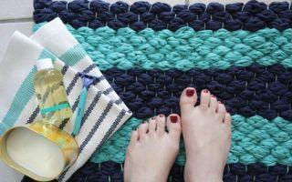 Как сделать коврик для ванной своими руками?