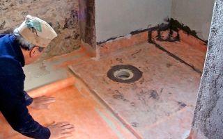 Делаем пол в ванной комнате своими руками