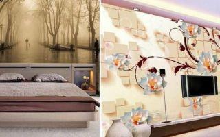 3д фото обои на стены: в детские, черно белые, ремонт для спальни, комбинируем комнаты, цветы, можно ли клеить с розами в интерьере, видео