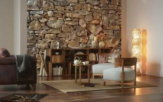 Каменные обои в интерьере, особенности создания оригинального дизайна