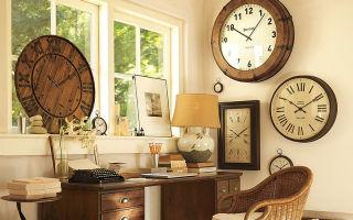 Настенные часы в интерьере дома