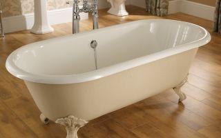 Как установить ванну на ножках: секреты правильной установки