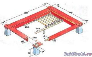Кровать в японском стиле своими руками: чертеж и обработка заготовок