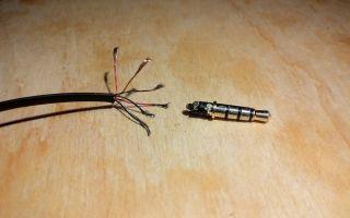 Ремонт провода наушников