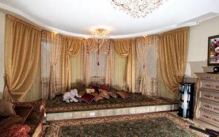 Шторы для зала: ткань и фактура (40 фото)