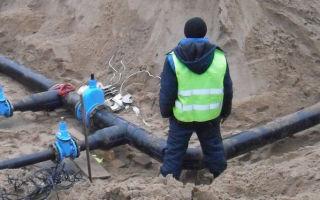 Работы по замене коммуникаций водопроводов