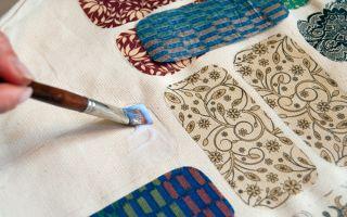 Декупаж на ткани обычным клеем пва: создаем картинку на текстиле (мастер-класс)