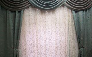 Шитье ламбрекенов для зала в 7 простых этапов и их классификация