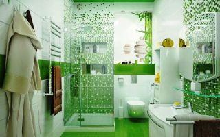 Зеленый цвет в дизайне ванной комнаты