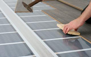 Теплый пол под ламинат на бетонный пол: порядок устройства
