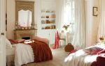Романтическая нежность в оформлении спальни с ванной комнатой
