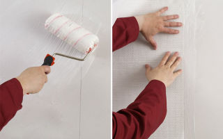 Стеклообои для стен и потолка под покраску: разновидности и технология поклейки