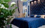 Спальня в синих тонах 14 кв. м.