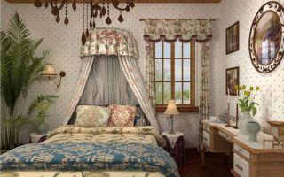 Спальня в стиле кантри. фото
