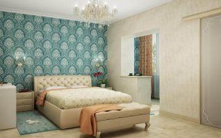 Дизайн стен: обои в спальне, их выбор, преимущества