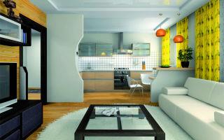 Как лучше разделить кухню и гостиную?