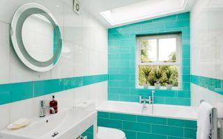 Бирюзовый цвет в дизайне интерьера ванной комнаты