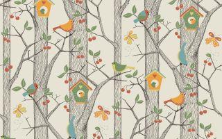 Обои с деревьями: интерьер с рисунками и изображениями